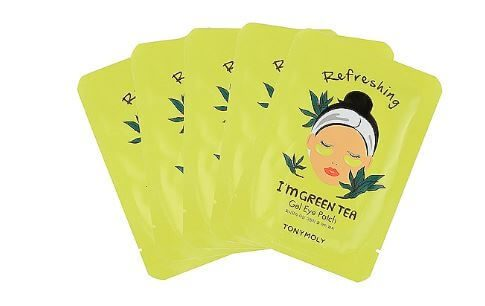 eye mask, holiday gift ideas, beauty gift ideas, christmas gift ideas, holiday beauty gift ideas, skincare, makeup, cosmetics, gift ideas for her,TonyMoly I'm Green Tea Gel Eye Mask, TonyMoly, TonyMoly Green tea,